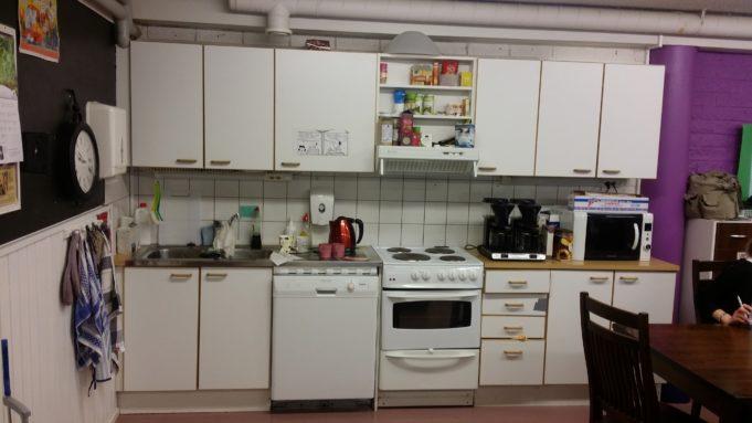 Kuva Kuljun nuorisokellarin keittiöstä
