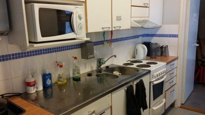 Kuva Lempoisten uimalarakennuksen keittiöstä