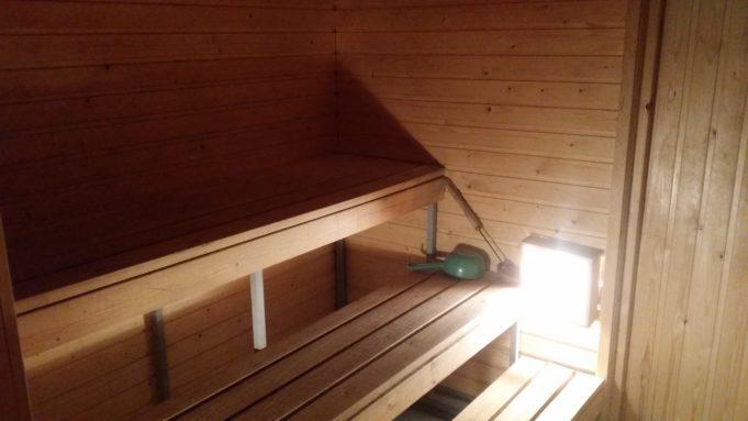 Kuva Innilän urheilumajan saunasta