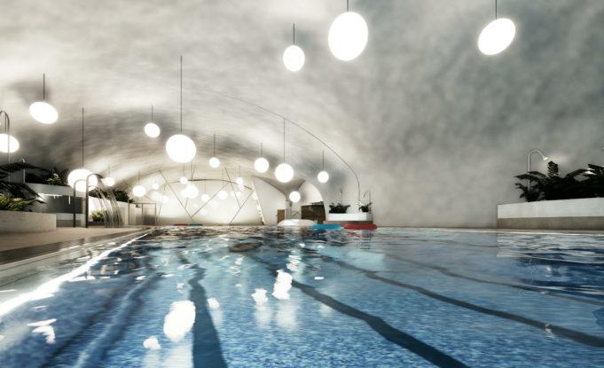 Kuva Lempäälän uimahalli-kylpylän altaasta.