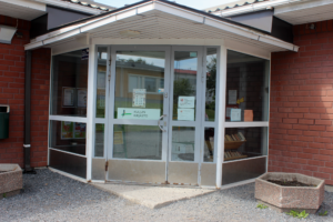 Kuljun kirjaston ovi