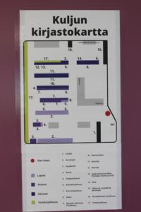 kuljun kirjastokartta