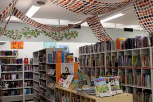 sääksjärven kirjastoa sisältä, lastenosasto